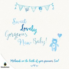 Card: BBY02 Sweet Lovely Gorgeous New Baby Son