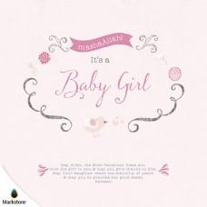 Card: BGL01 Its a Baby Girl