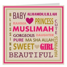 Card: BA37010D Urban Baby Girl Pink