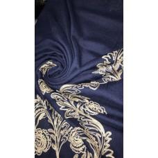 AK16 - Embroidery Phoenix scarf (Navy)