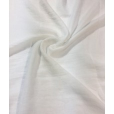 AK16 - Shimmer Embroidery Scarf White