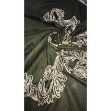 AK16 - Embroidery Phoenix scarf (Khaki)