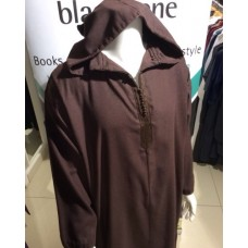 Moroccan Hooded Thoub Brown (L)