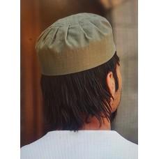 Cotton Pleated Hat Khaki Green (L)
