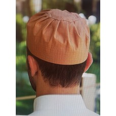 Cotton Pleated Hat Toasted Nut (L)