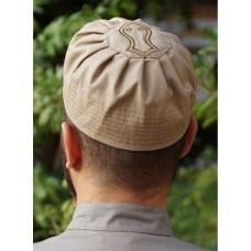 Sandal Pleated Hat Camel (L)