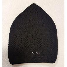 Mercan Cotton Hat - Black