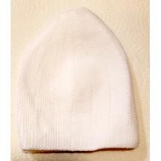 Mercan Plain Thick Hat - White