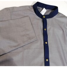 Navy Collar - Grey Thoub