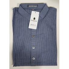 Ashab Stripe Kurta - Blue