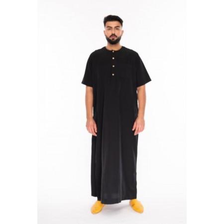 Al Noor - Half Sleeve Black Thoub