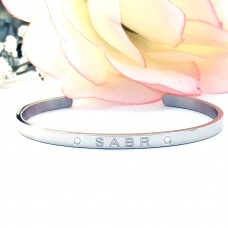 S.G Cuff Bangle (Silver) Sabr - Patience