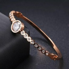 Bangle Crystals Rose Gold