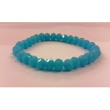 AKJDX7 Bracelet Single Beeds - Blue