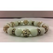 AKJDX3 Bracelet Pearl Beeds - Light Blue