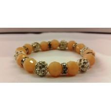 AKJDX2 Bracelet Pearl Beeds - Peach