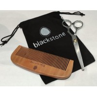 Beard Comb and Scissors in draw string bag