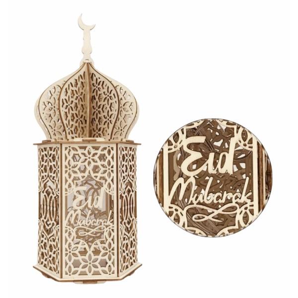 Eid Mubarak Wooden LED Night Light Home Decor