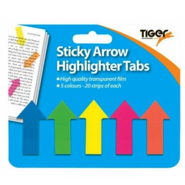 NIS - Sticky Arrow Highlighter Tabs (100)