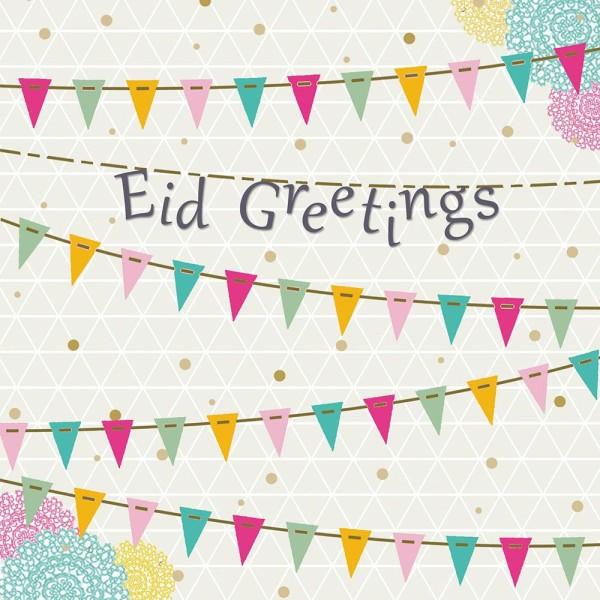 Card - Eid Greetings Iris - Bunting (IR07)