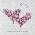 Card - Wedding... - 2 Floral Lovehearts (CD09)