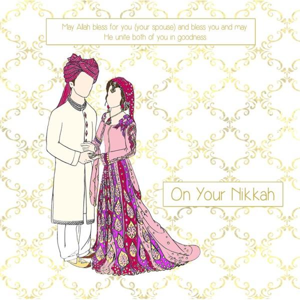 On your Nikkah - Bride & Groom Image