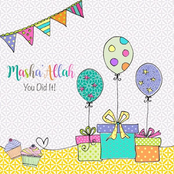 Masha'Allah You Did It Card