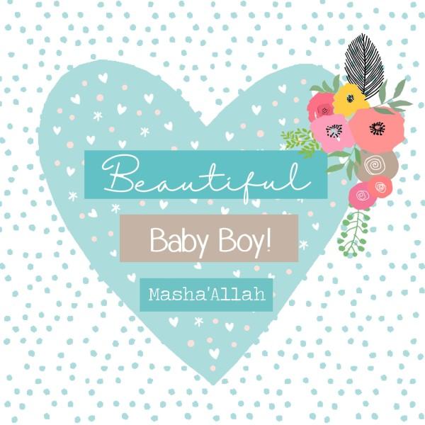 Beautiful Baby Boy! Masha'Allah Greeting Card
