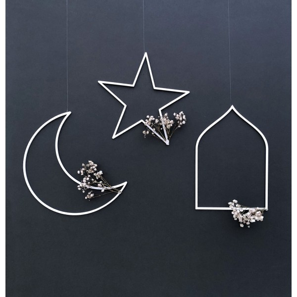 Crescent, Star & Arch Hanging Shapes - 3 Piece Set