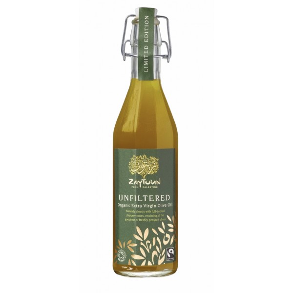 Zaytoun : Unfiltered Organic Extra Virgin Olive Oil 500ml