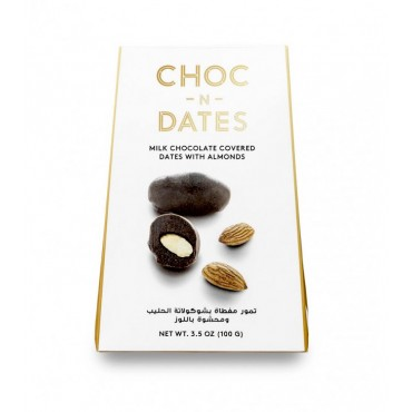 Choc-N-Dates : Dates with Milk Chocolate & Almonds (100g)
