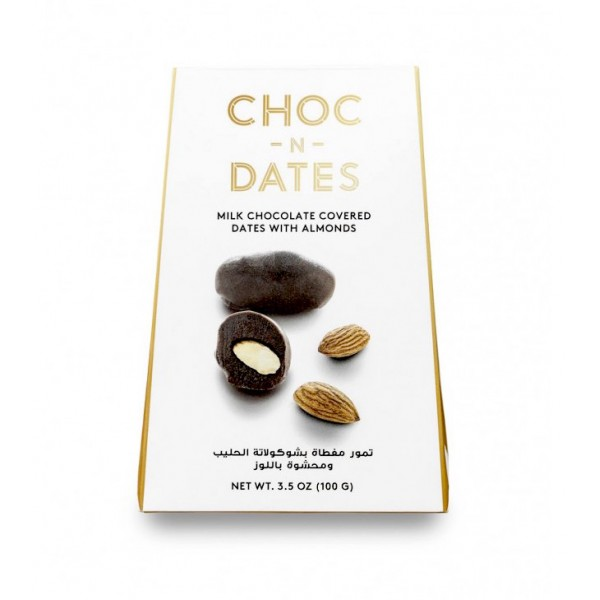 Choc-N-Dates : Dates with Milk Chocolate & Almonds (100g)
