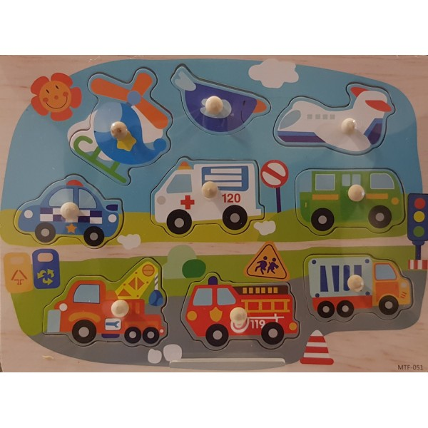 Wooden Transport Puzzle (MTF-051)