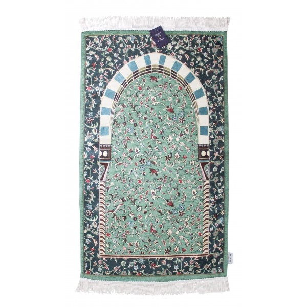 LUXURY - Green Rawda Prayer Rug