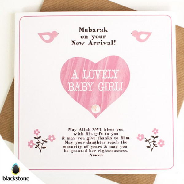 Card: BGE09 A Lovely Baby Girl (IGC)