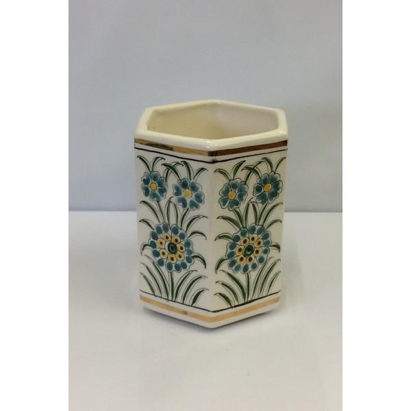Tunisian Ceramic Hexagonal Candle holder
