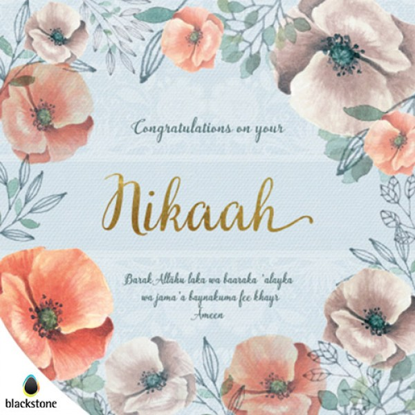 Card: WED21 Congratulations Nikaah