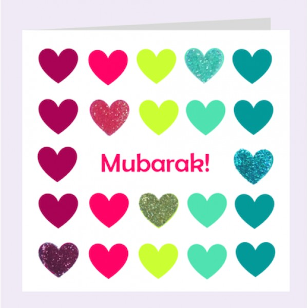 Card: CN37002E ColourHeart Mubarak