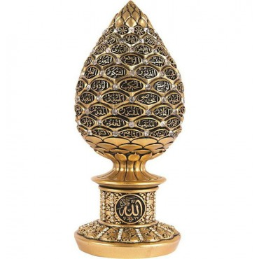 99 Names of Allah - Gold Egg Sculpture (Small)