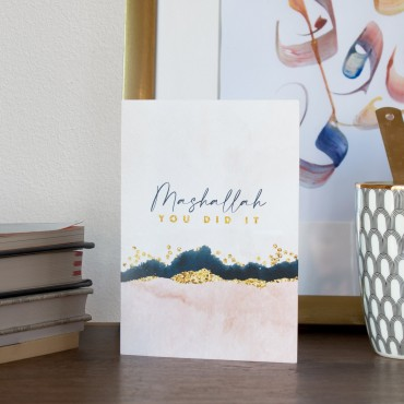 Ethereal Watercolour & Gold - Mashallah - you did it!