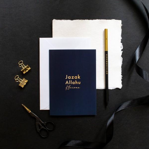Card: A6 Gold Foiled - Jazak Allah Khairan