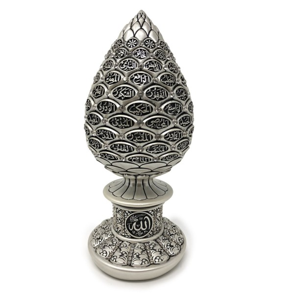 99 Names of Allah - Silver Egg Sculpture (Large)