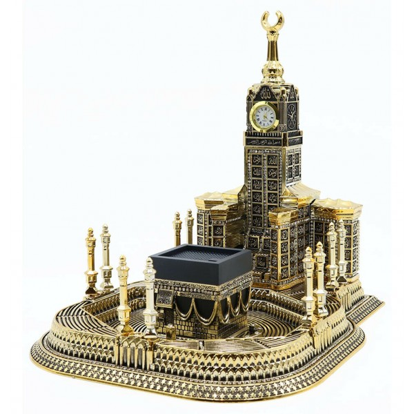 99 Names of Allah - Kaba Clock Tower Gold (Large)