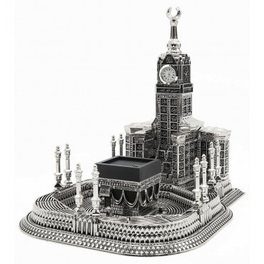 99 Names of Allah - Kaba Clock Tower Silver (Large)