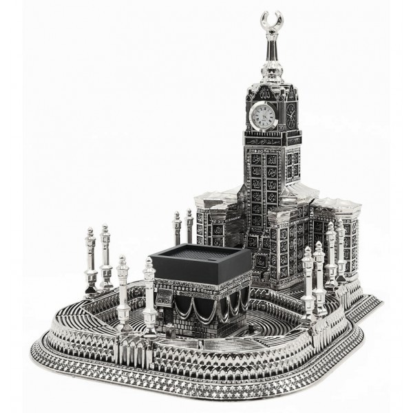 99 Names of Allah - Kaba Clock Tower Silver (Large)