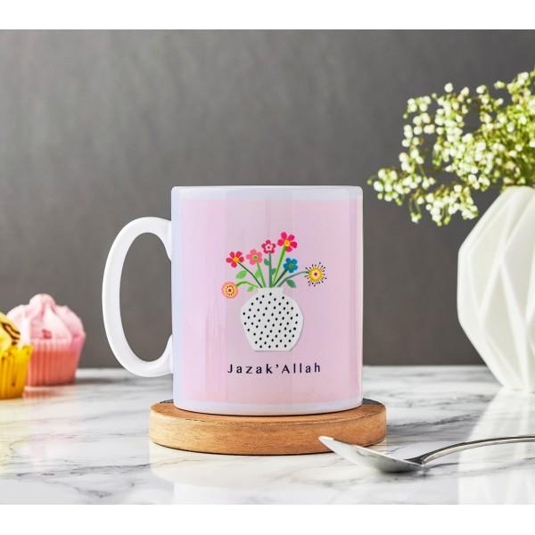 Mug B03 Jazak'Allah - Vase with Flowers