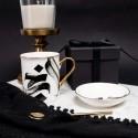 Al-Khabir Calligraphy Mug with Gold Handle and Rim