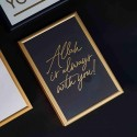 A5 Print Black - Allah is always with you! Gold letter press print