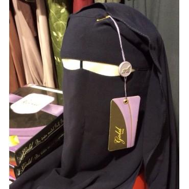 Niqab (Gold Turkey) - Navy