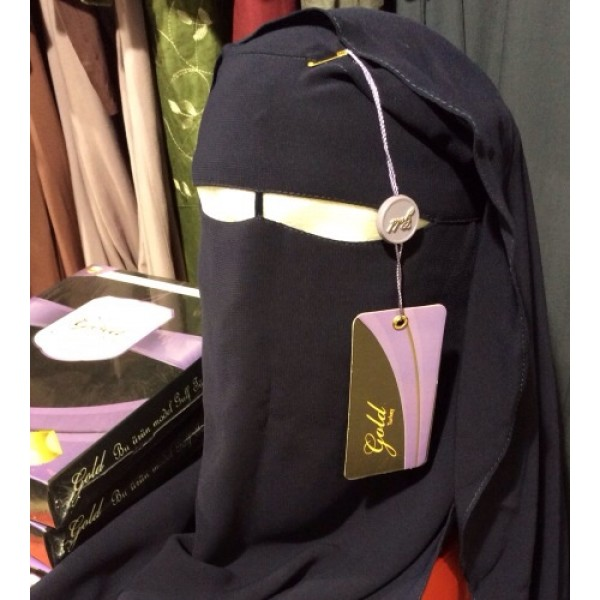 Niqab (Gold Turkey) - Navy